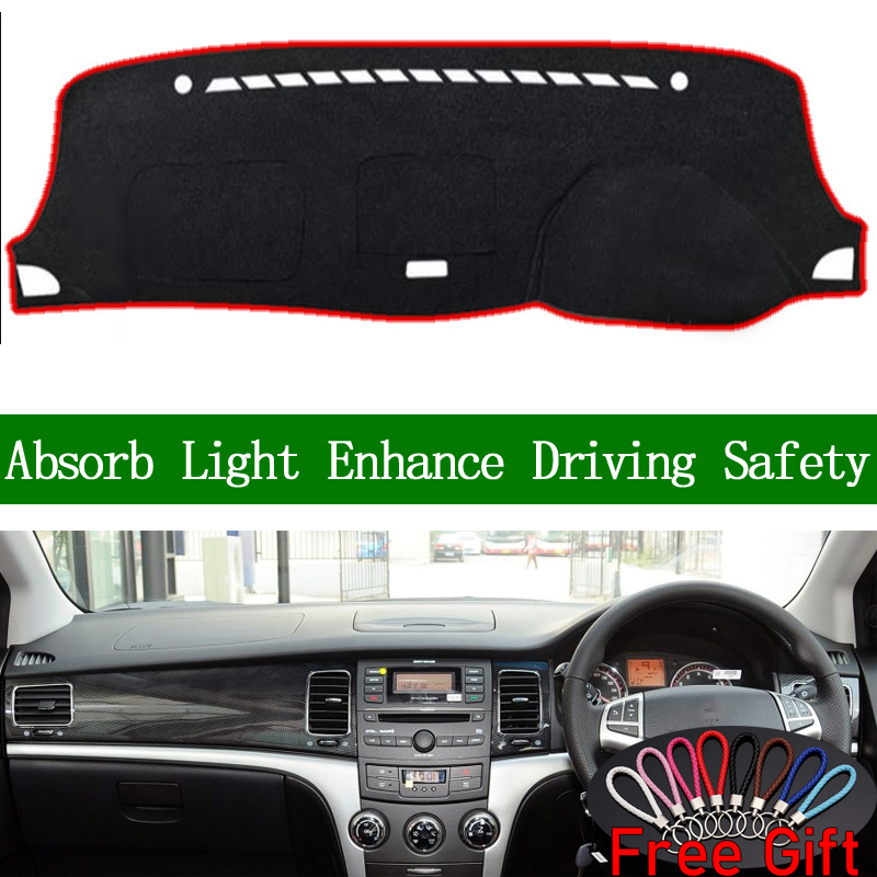 For SsangYong Korando 2011 2012 2013 Right Hand Drive Dashboard Cover Car Stickers Dash Mat Carpet Interior Accessories image
