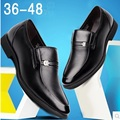 Luxury Shoes Men Cow Split Design Round toe Brand Business Office Shoes Man Black Sequined Slip-On Plus size 38-48 Real Leather