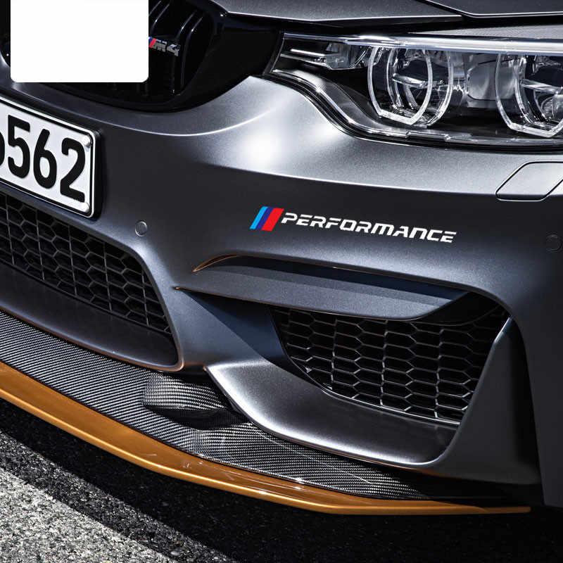 2PCS M Performance ด้านหน้าสติกเกอร์กันชนด้านหลังสำหรับ BMW รุ่น F10 F20 F30 E36 E90 E46 x3 X5 G30