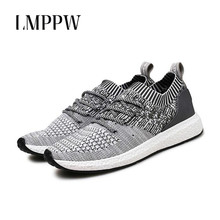 цена на New 2019 Men Trainers Sneakers Casual Shoes Men Light Breathable Outdoor Flats Shoes Fashion Men Weaving Fly Lace Up Shoes