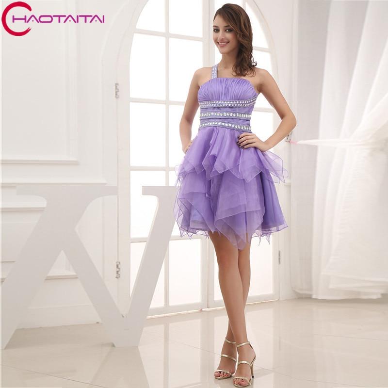 Short Coctail   Dress   Beaded Crystal Mini-length Elegant One Shoulder Sexy   Cocktail     Dresses   2018