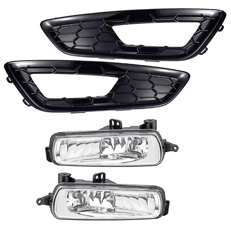 For Ford Focus Fog Lights 2015 2016 2017 2018 Headlight For Ford Focus 3 Fog Lamps Covers Fog Light Halogen Foglights Headlights
