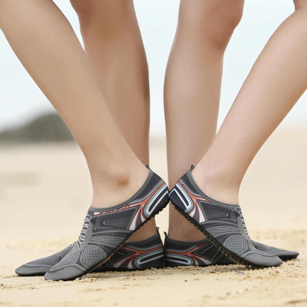 SAGACE/2019 г. Мужская и Женская акваобувь летние туфли для отдыха на открытом воздухе туфли без каблуков для пляжа, бассейна, моря, Плавание Серфинг Нескользящая водонепроницаемая обувь легкая