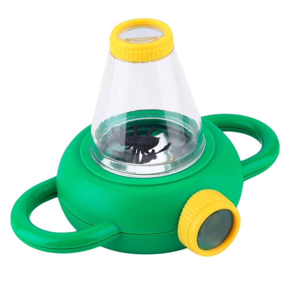 OCDAY Magnifier Two Way Bug Serangga Viewer Observation Anak Mainan Kaca Pembesar Anak Pendidikan Yang Sangat Baik Mainan Hot Sale