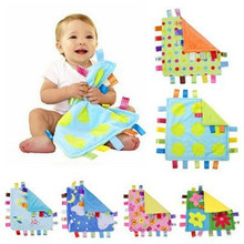 7 Styles Appease Towel 30cm Baby Soft Square Comforting Tagg