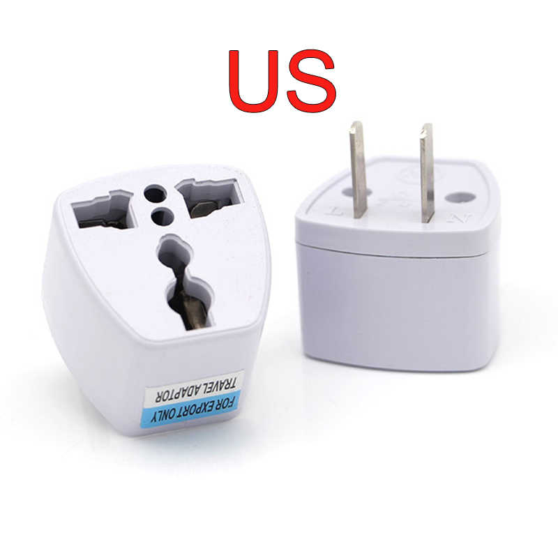 New Arrival 1 PC uniwersalny UK US AU do ue zasilanie prądem zmiennym wtyczka podróżna elektryczna przejściówka do ładowarki konwerter japonia chiny American