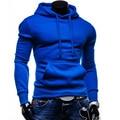 Hoodies Marca de moda 2016 Homens Casual Sportswear Homem Com Capuz Zipper Longo-sleeved Camisola Plus Size Slim Fit Homens Do Hoodie europeu