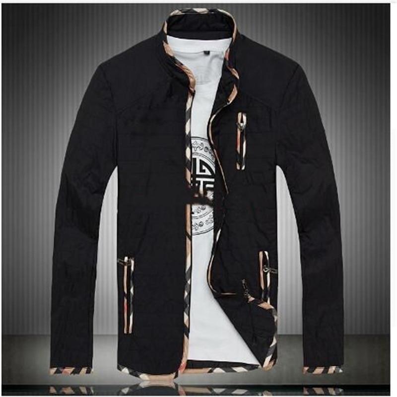 Куртки мужские пальто плюс Размеры 5XL Новинка; футболки Демисезонный тонкие ватные паль ...