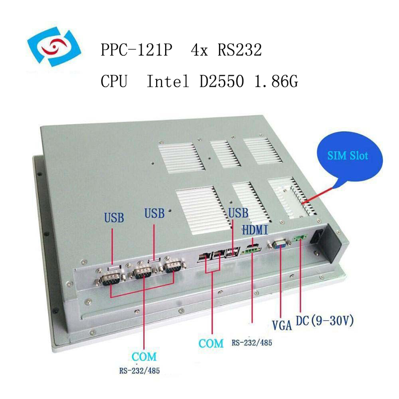 "Image 3 - 12.1"" high brightness touch screen industrial panel pc for water filters control-in Industrial Computer & Accessories from Computer & Office"
