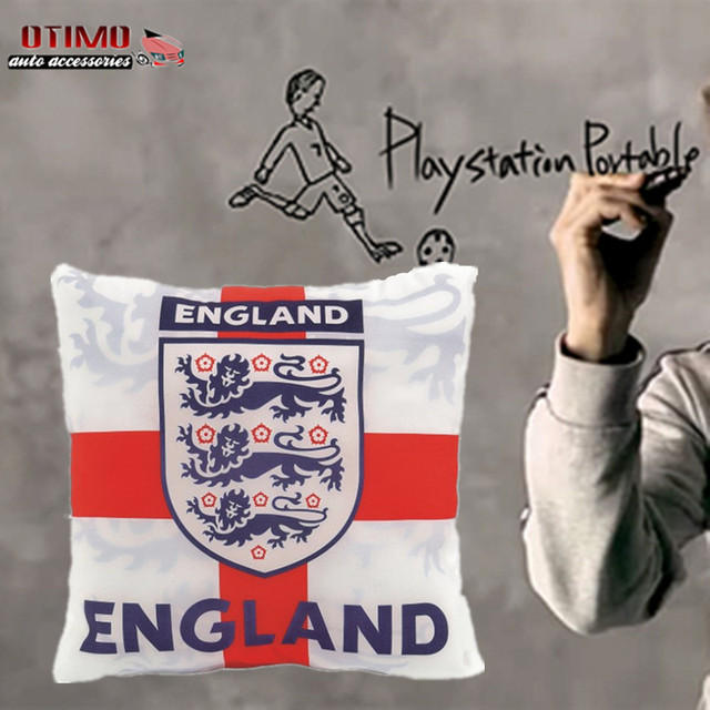 England National Football Team Automobile Creative Cotton and Linen Pillow Decoration Hotels Club Home Office Car Sofa Cushion