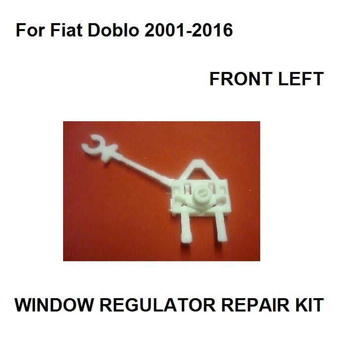 For Fiat Doblo Window Regulator Repair Kit Clips / Front Left New 2001-2016
