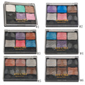 RIHAO 6 Color Types Professional Comestic Woman Makeup Nude Eyeshadow Palette With Blush Palette Long Lasting Make Up