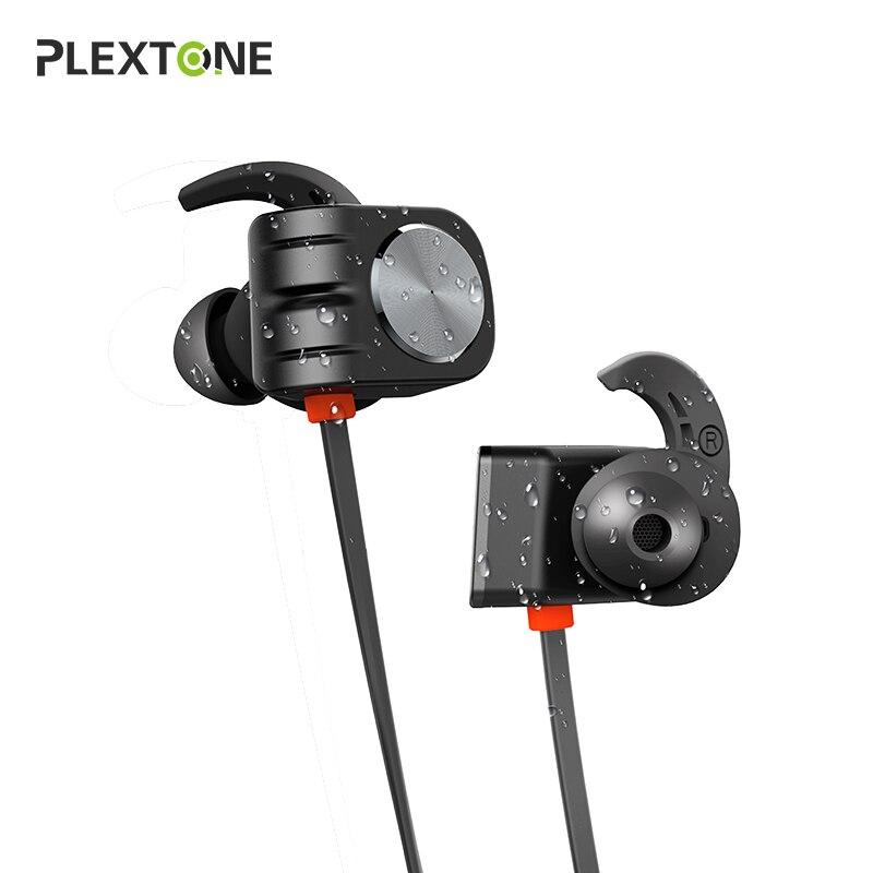 Plextone BX338 Bluetooth Écouteurs IPX5 Étanche Stéréo Écouteurs Avec Mic Mains Libres Neckband Casque Sans Fil Pour Téléphone Sport