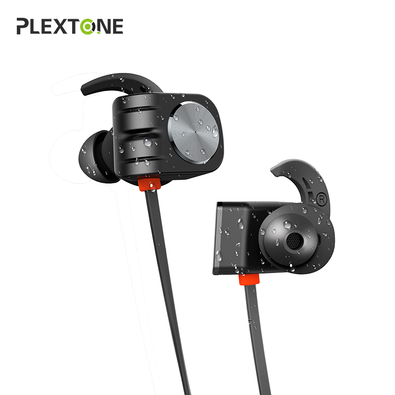 Plextone BX338 Bluetooth Earphone IPX5 Waterproof Stereo Earbuds With Mic Handsfree Neckband Wireless Headphone For Phone Sport цена