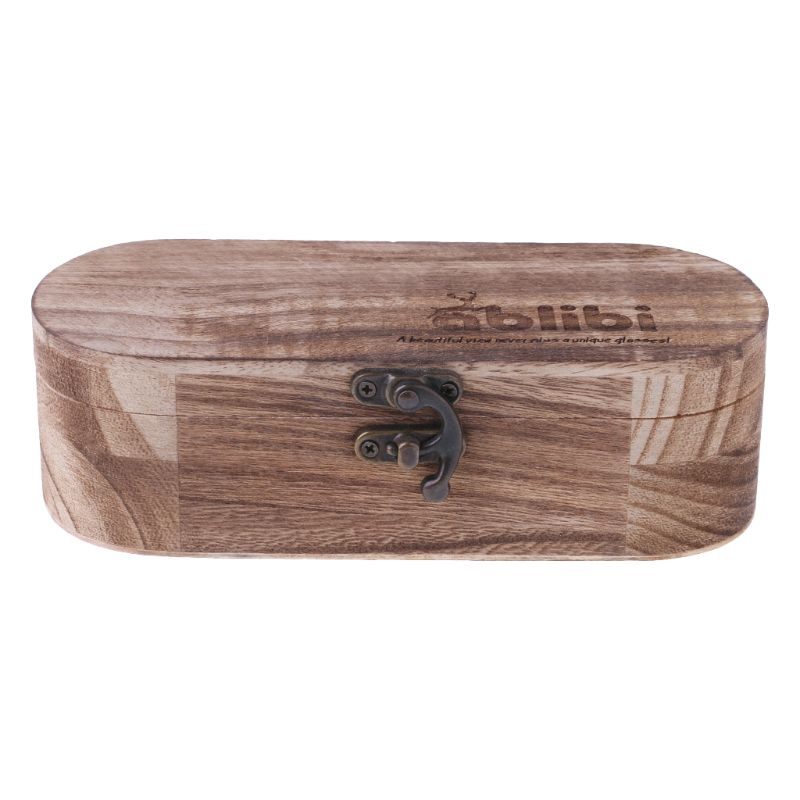 Reading Glasses Box Sunglasses Natural Wood Folding Handmade Storage Case Hard Protective Vintage Package Eyeglasses