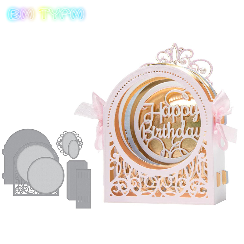 BM Craft metal cutting dies cut die mold Flower round cabinet Scrapbook paper craft knife mould blade punch stencils