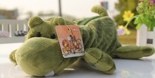 Super cute 1pc 25cm cartoon crocodile plush school bag boy stuffed toy children gift