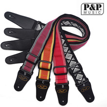 Free Shipping guitar strap cotton embroidery electric guitar strap weaving instrument S114