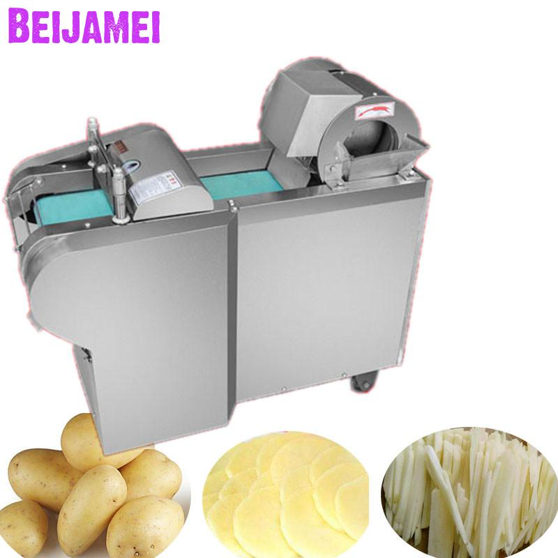 BEIJAMEI Electric Industrial Vegetable Cutter Cutting Machine/Commercial Potatoes Carrot Vegetable Slicer SlicingBEIJAMEI Electric Industrial Vegetable Cutter Cutting Machine/Commercial Potatoes Carrot Vegetable Slicer Slicing