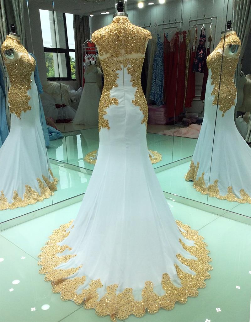 Купить элегантные мусульманские вечерние платья с золотой вышивкой