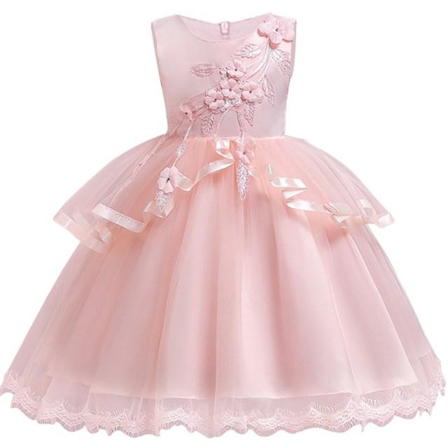 ed9ca46b91243 Fleur Filles Diamant Dentelle À Paillettes Robe Princesse Enfants Fille  Gress Pour 3-14 Ans