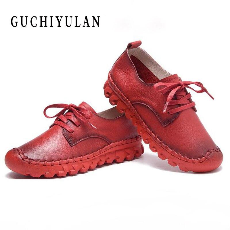 Marque dames chaussures plates en cuir véritable Designer plate-forme chaussures femmes à lacets Oxford appartements décontracté casual confortable baskets
