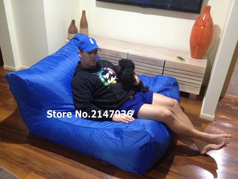 Sun lounger living room bean bag chair, extra wide waterproof beanbag sofa  seat in Cobalt - Popular Bean Bag Lounger Chair-Buy Cheap Bean Bag Lounger Chair