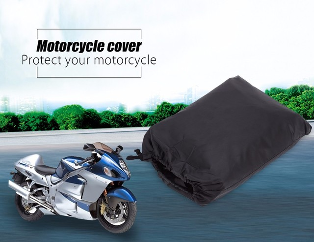 MultiFunction Motorcycle Cover Polyester Taffeta Waterproof Rain Dust UV Protection Dustproof Covering Cloth with Storage Bag