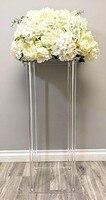 2019 artificial flower fake flower Flower Vase crafts decor wedding Table Centerpiece Floral Stand Columns For Wedding party