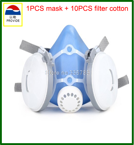 PROVIDE dust mask high quality silicone respirator dust mask dust smoke painting industrial safety safety masks high quality airsoft mask pc the lens used for cs welding polishing dust the face protect mask splash proof material safety mask