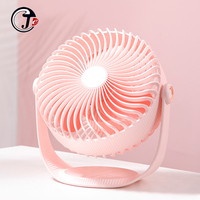 2000 mAh Battery Fan 20cm Desktop USB Charging Powered 360 Degree Rotation no Noise 3 speeds Fans Portable Enhanced Airflow