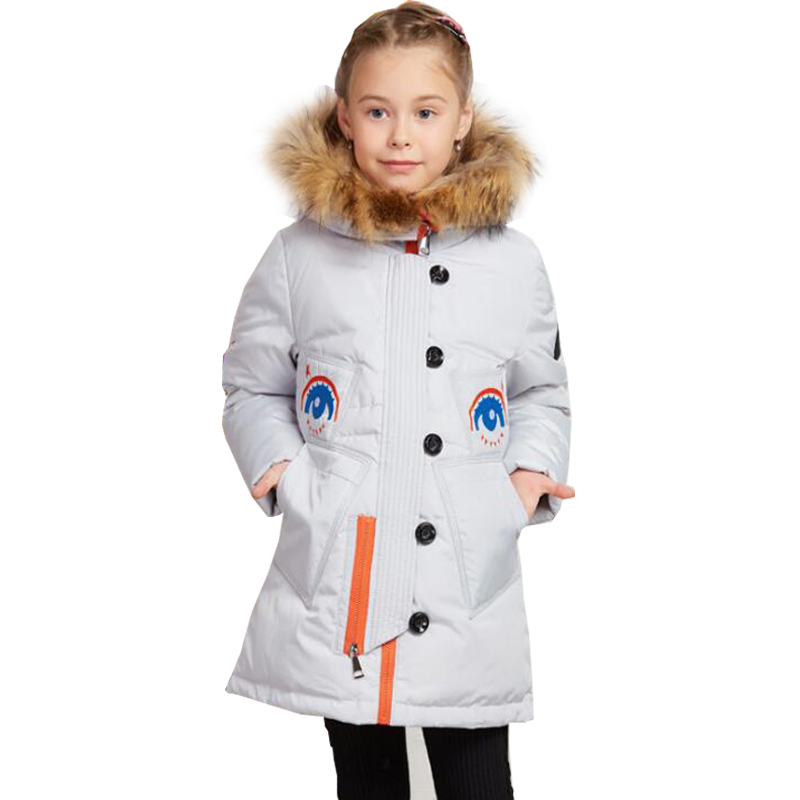 2017 New Long Winter Children Girls Down Coats Girls Jackets And Coats With Hoods Fashion Down Kids Jackets For Girls Outerwear new children down jacket out clothing winter ski clothes winter jacket for girls children outerwear winter jackets coats
