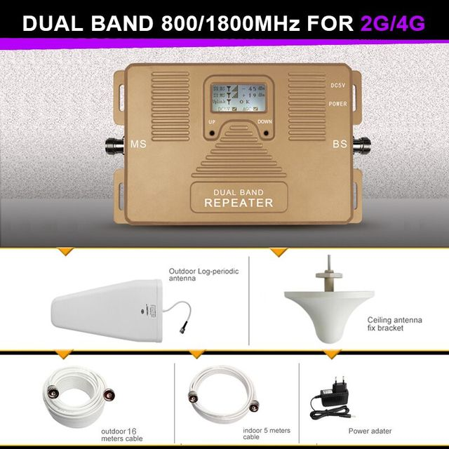 NEW prodect !!DUAL BAND  2g+4g  800/1800mhz mobile signal booster cellular cell