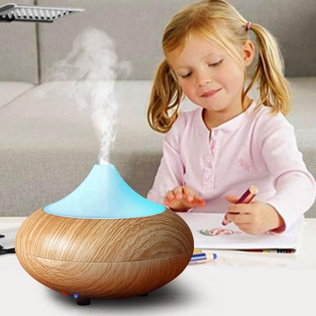 Дома Эфирные масла диффузор мини-ультразвуковой увлажнитель воздуха диффузор с светодиодные лампы Туман Ароматерапия Электрический Арома диффузор