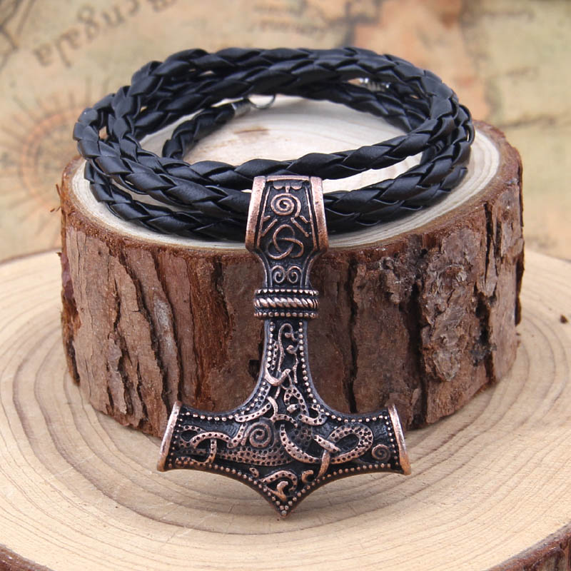 dropshipping 1 stk thor's hammer mjolnir halskæde viking - Mode smykker - Foto 4