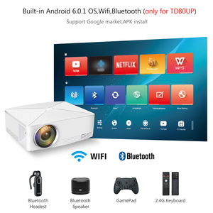 Image 4 - ThundeaL TD80 Mini LED Projector 1280x720 Portable HD HDMI Video C80 3D LCD C80 UP Android WiFi C80Up Beamer Home Cinema