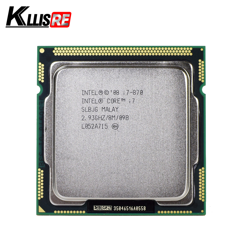 Original Intel Core I7 870 Processor Quad Core 2.93GHz 95W LGA 1156 8M Cache Desktop CPU(China)