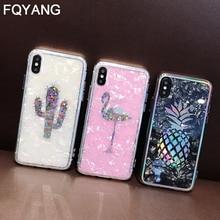 Роскошный мягкий чехол для телефона с рисунком ананаса фламинго, кактус для iphone 6 6s 7 8 Plus X XS Max XR 8 plus