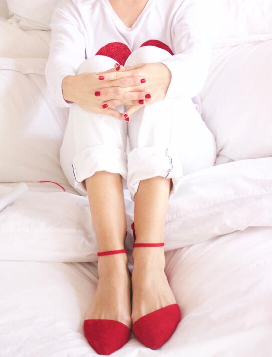 Picture Chaussures Rouge Picture Dames En Qualité Femmes Style Bout Cheville Élégant Appartements Robe Ballet Suédé Cuir Haute as Boucles Mode As Pointu Fp81qv