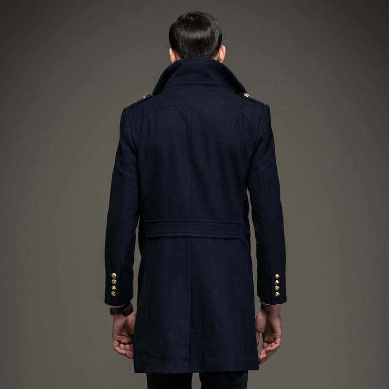 Aliexpress.com : Buy Men Big and Tall Classic Wool Blend Pea Coat