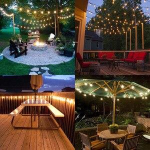 Image 5 - VNL White Wedding String Light,Retro Garden Decorative Garland Light With 25 Clear Ball Bulbs for Outdoor Hanging Umbrella Patio
