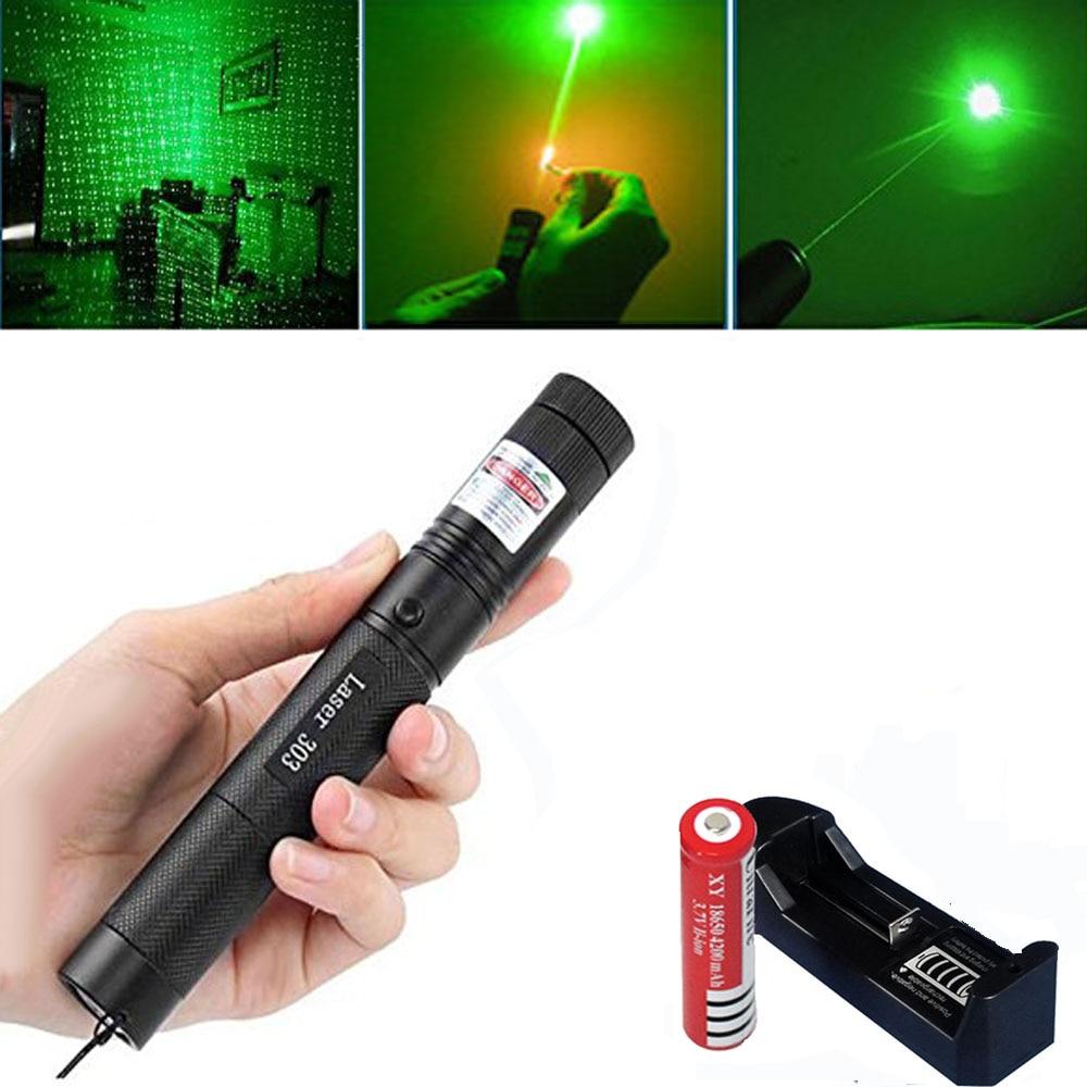 Green Laser sight High Power hunting Green Dot tactical 532 nm 5mW 303 laser pointer verde lazer Pen Head Burning Match
