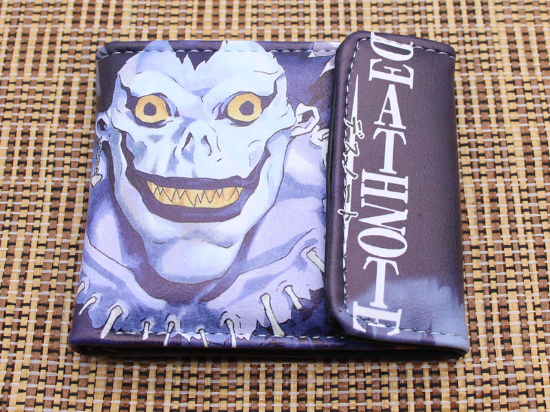 Death Note Ryuuku Short Wallet Unisex Cartoon Hasp Short Wallets Photo Card Holder Purse Free Shipping
