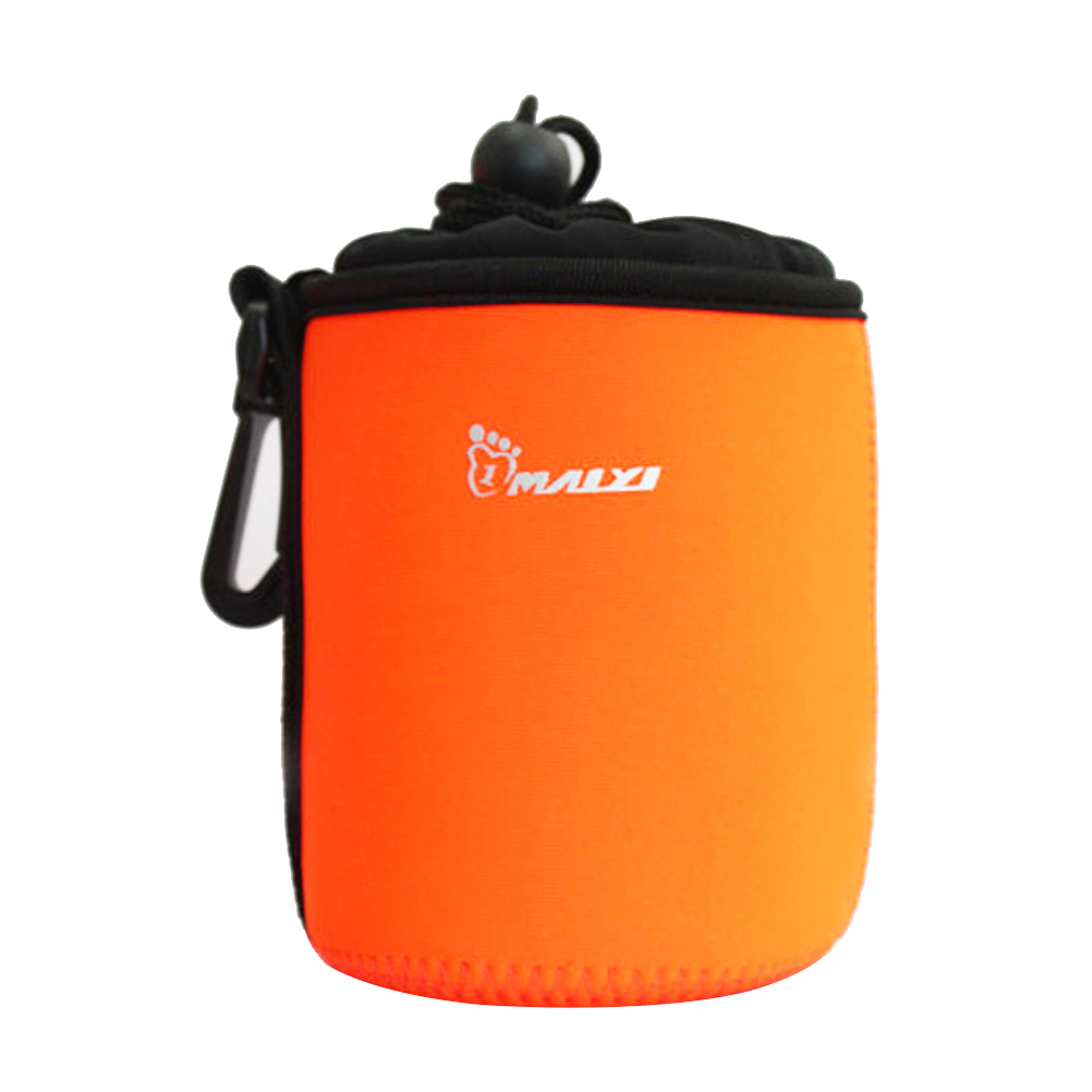 Portable Neoprene Pouch Bag for Canon / Nikon / Pentax / Sony / Olympus / Panasonic DSLR Camera Lens (Orange)