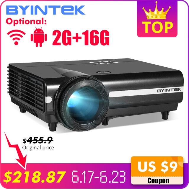 BYINTEK księżyc BT96Plus Android Wifi inteligentne wideo projektor LED projektor do kina domowego Full HD 1080 P wsparcie 4 K Online wideo