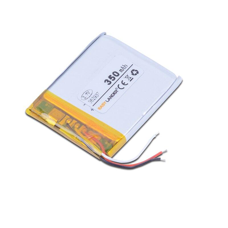 362937 3.7V 350mAh Rechargeable Li-Polymer Li-ion Battery For pen MP3 MP4 DVR tools speaker toys bluetooth heads 353038 363036