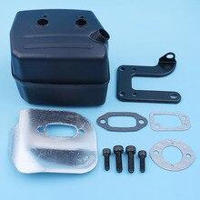 Silenziatore Deflettore di Scarico Staffa Guarnizione Bolt Kit Per Jonsered 625 II 630 Super 670 Champ Motosega Parte di Ricambio