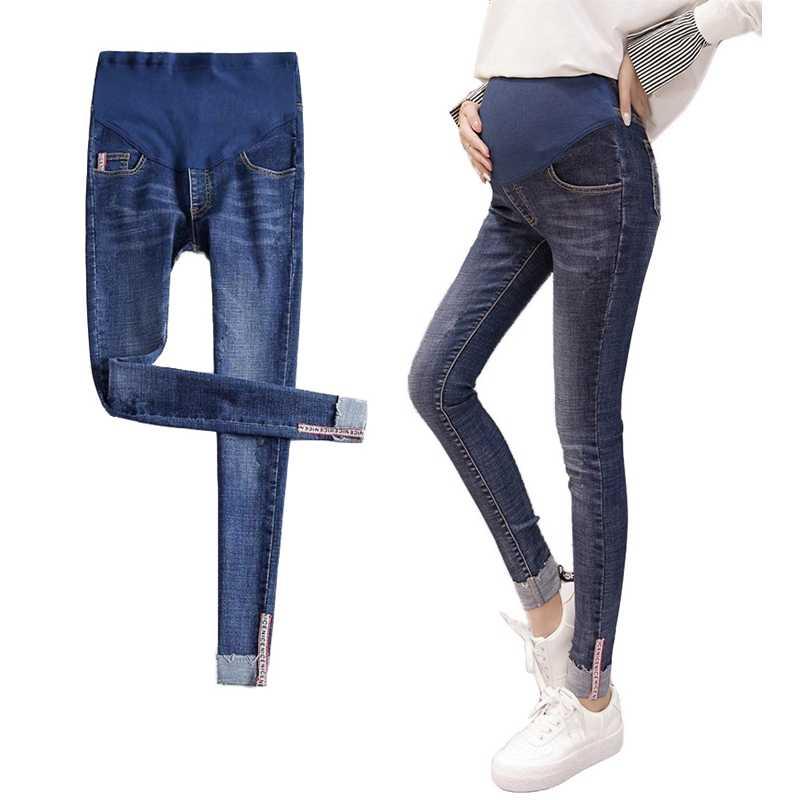 Stretch Maternidad Jeans Pantalones Vaqueros De Cintura Elastica Para Mujeres Embarazadas Maternidad Pantalones Ropa Para Embarazada Adelgazamiento Ropa De Maternidad Pantalones Vaqueros Aliexpress