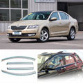 4pcs New Smoked Clear Window Vent Shade Visor Wind Deflectors For Skoda Octavia