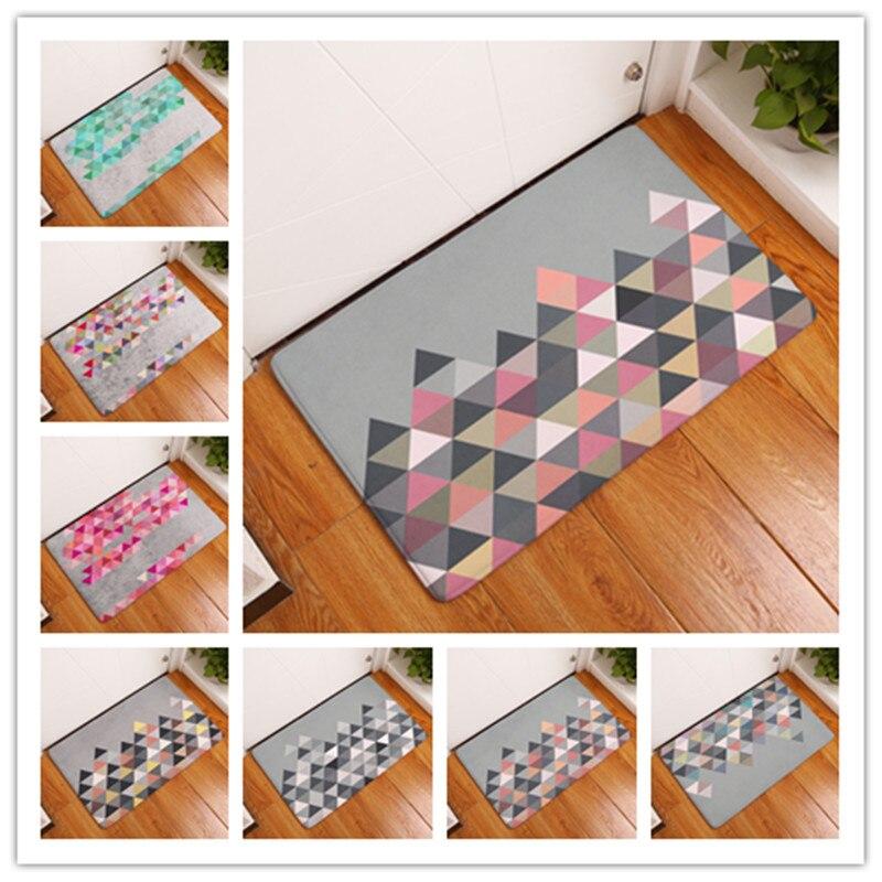 Color Nuevo estilo de moda Alfombras creativas Lavable Geometría - Textiles para el hogar